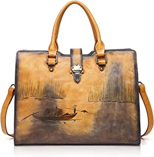 APHISON Designer Soft Leather Totes Handbags for Women, Ladies Satchels Shoulder Bags
