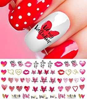 Valentine's Day Nail Art Heart Decals Set #3 Salon Quality!