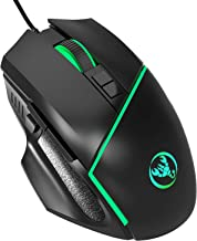 YOUPECK RGB Optical Ergonomic Wired Gaming Mouse with Backlit RGB LED Backlit, Ergonomic Mouse Griffin Programmable with 7...