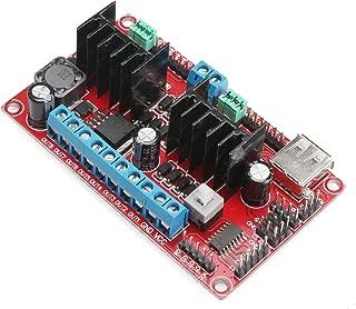 Stepper Motor Driver, DROK DC-DC Stepping Motor Module 5-30V 9V 12V 24V V3 Dual H-Bridge 4-Channel 2A Step Motor Driver Controller Board Chip with USB Port - 091049