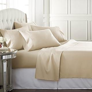 Danjor LinensQueenSize Bed Sheets Set - 1800 Series6 Piece Bedding Sheet & Pillowcases Sets w/ Deep Pockets - Fade Resi...