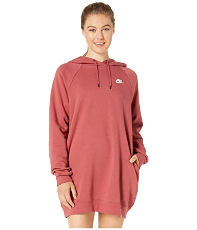 Nike NSW Essential Fleece Dress (Cedar/White) Women