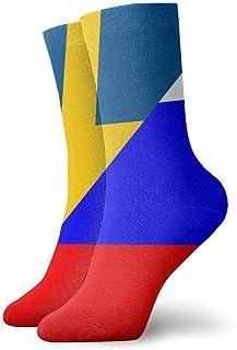 Jhonangel, Bandera de México y calcetines con bandera sueca para hombres, mujeres, niños, trekking, rendimiento, exteriores 30 cm / 11.8 pulgadas