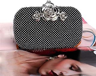Fine Bag/Wedding Evening Bags Formal Clutch Purse Crystal Evening Handbag for Women Banquet Bag (Color : Black, Size : One Size)