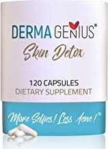 Best Acne Clear Skin Vitamins- Supplements in Adults, Teens, Women, Men: pimples, cysts, blackheads, Whiteheads, Oily Skin - Derma Genius Skin Detox Natural Pills