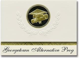 Signature Announcements Georgetown Alternative Prog (Georgetown, TX) Graduation Announcements, Presidential style, Elite p...