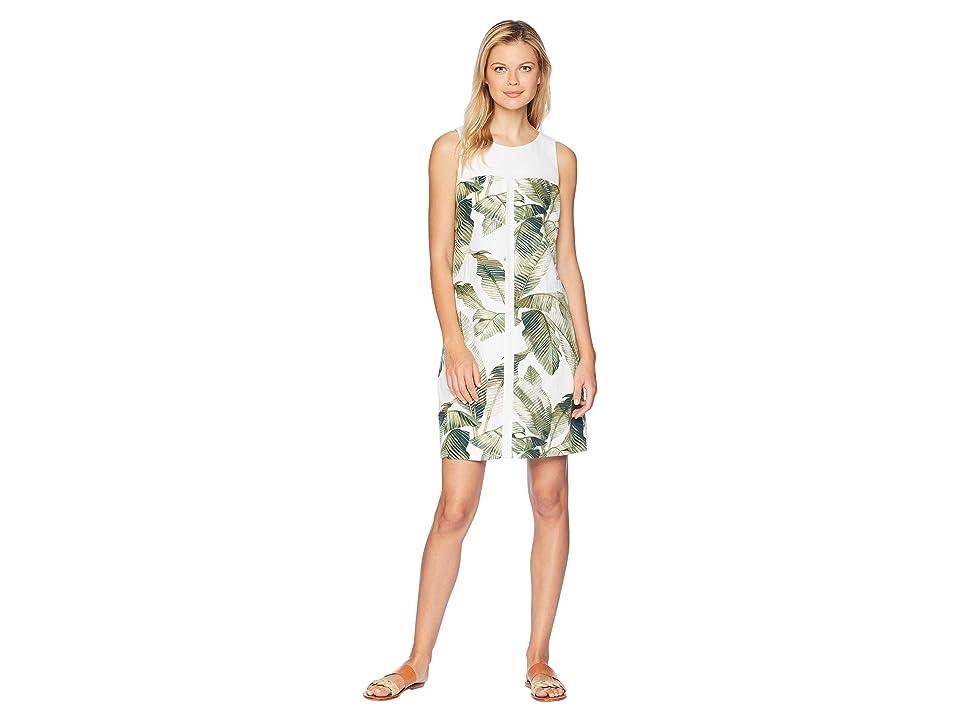 Tommy Bahama Fiesta Palms Shift Dress (White) Women