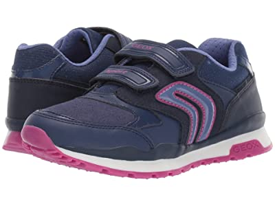 Geox Kids Jr Pavel 5 (Little Kid/Big Kid) (Blue/Purple) Girls Shoes