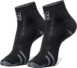 MORETAN, Run Ultralight Calcetines Tobilleros Hombres y Mujer Calcetines Cisclismo Running Transpirables Tenis Padel Senderismo Antirozaduras Comodos y Resistentes 2 Pares