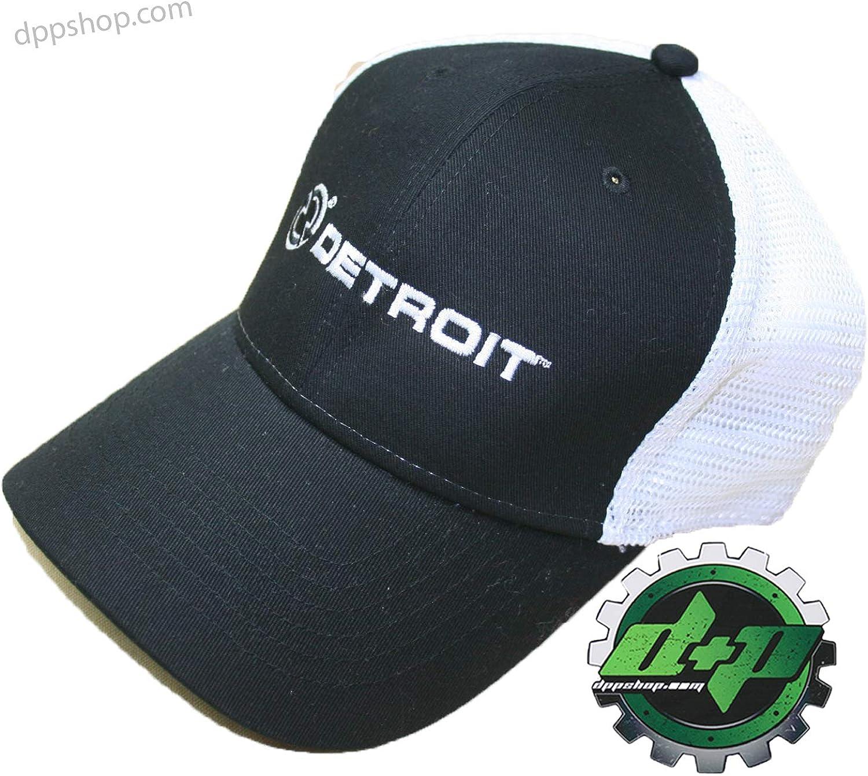 Cummins S M Detroit Diesel Fitted Ball Cap Semi Trucker Hat Gear Mesh Flex Fit Stretch