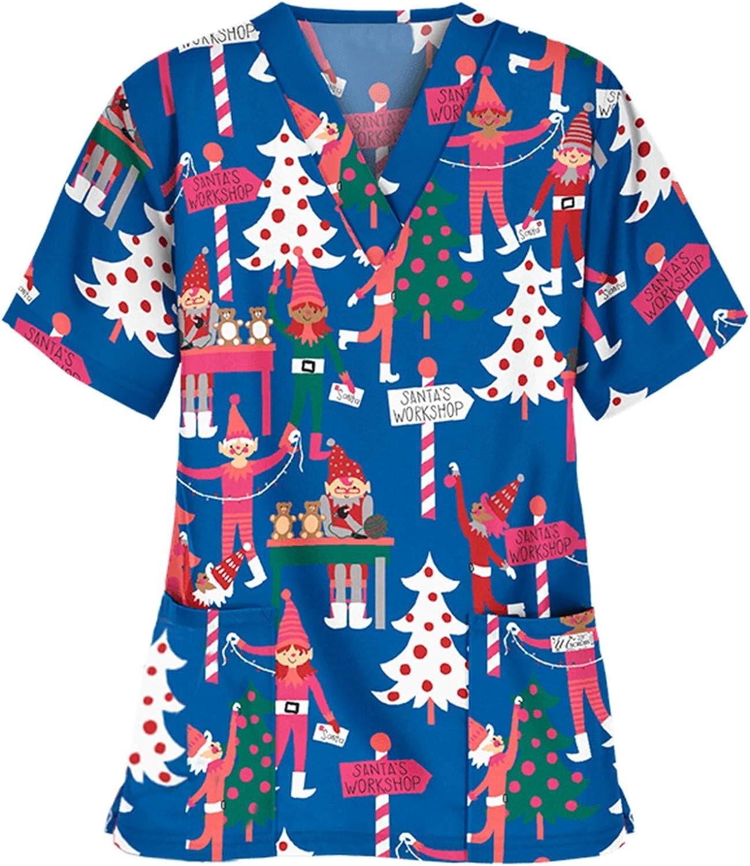 Max 43% OFF Short Sleeve Christmas Shirts for Max 55% OFF Santa Women Christma Snowflake