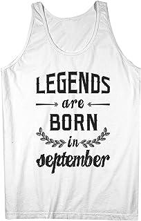 Legends Are Born In September お誕生日 Gift Anniversary Present 男性用 Tank Top Sleeveless Shirt