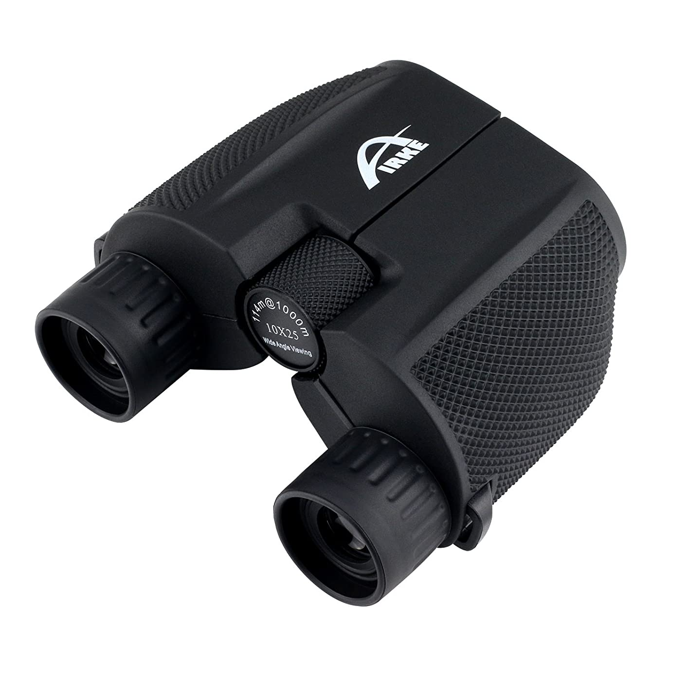 Airke 10x25 Folding High Powered Binoculars with Weak Light Night Vision Clear Bird Watching Great for Outdoor Sports Games and Concerts Binocular