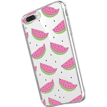 Inonler Couleur Cool été de pastèque intéressant Souple Transparente Coque ()(iPhone 7,Rose)
