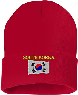 SOUTH KOREA COUNTRY FLAG Custom Personalized Embroidery Embroidered Beanie