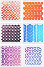 6 Set Geometric Tile Stencils 12 x 12 Inch - Art Painting Templates for Drawing Tracing DIY Furniture Wall Floor Fabric Home Decor