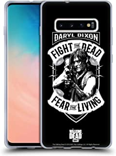 Official AMC The Walking Dead RPG Black White Daryl Dixon Biker Art Soft Gel Case Compatible for Samsung Galaxy S10+ / S10 Plus