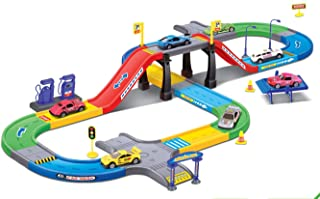 Liberty Imports My First Speed Racing Assembly Playset - Includes 3 Diecast Cars
