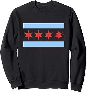 Chicago Flag Sweatshirt Classic City of Chicago Crewneck