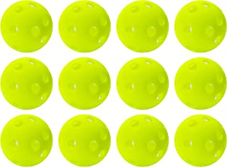 Franklin Sports Golf – Golf Balls- 12 Pack - Indestructible – Practice Golf Balls - Limited Flight - Plastic Training