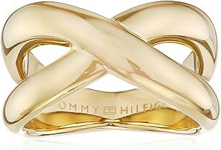 خواتم مصنوعة من فولاذ مطلي بالذهب الايوني للنساء من تومي هيلفيجر - موديل 2700964C