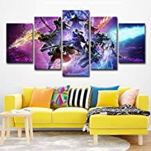 Karrnta Devil May cry Canvas Print Wall Art 5 Piece Picture Anime Game Figure Home Decoration Wall for Living Room Home Decor The Best Gift for Children,12X182+12X242+12X30inch1