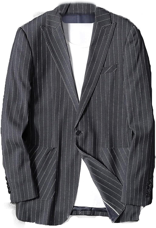 HONEST PHENIX COME Blazer Jacket for Men Casual Button-Front Slim Fit Suit Coat