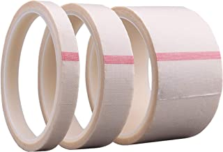 PTFE Coated Fiberglass Adhesive Teflon Tape,high Temperature Tape for Vacuum, Hand and Impulse Sealers;Drying Mechanical Conveyor Belt, Thickness 0.13mm,Length 10m (30mm X 11yards X 0.13mm(White))