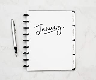 BetterNote 2020 Monthly Calendar for Disc-Bound Planners Notebook Not Included InkWell 7x9.25 Creative Fits 9-Disc Happy Planner