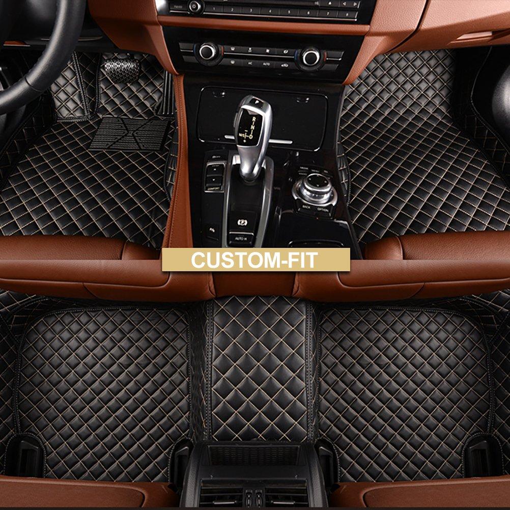 Classic Carpet Tan 3D MAXpider Front Row Custom Fit Floor Mat for Select Lexus RX350//450H Models