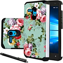 """Jitterbug Smart (5.5"""") Case, Linkertech [Shock Absorption] Heavy Duty Defender Dual Layer Protector Hybrid Case Cover for Jitterbug Smart (5.5inch) (Peony)"""