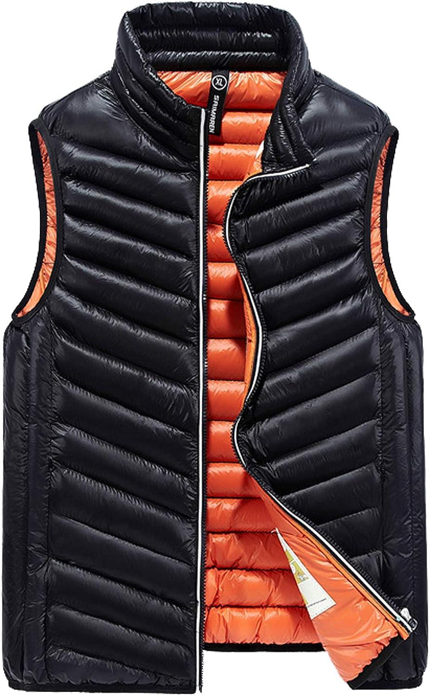 Flygo Men's Winter Lightweight Quilted Cotton Padded Puffer Outdoor Vest Jacket
