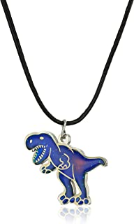 T-Rex Dinosaur Stainless Steel Color Changing Mood Necklace