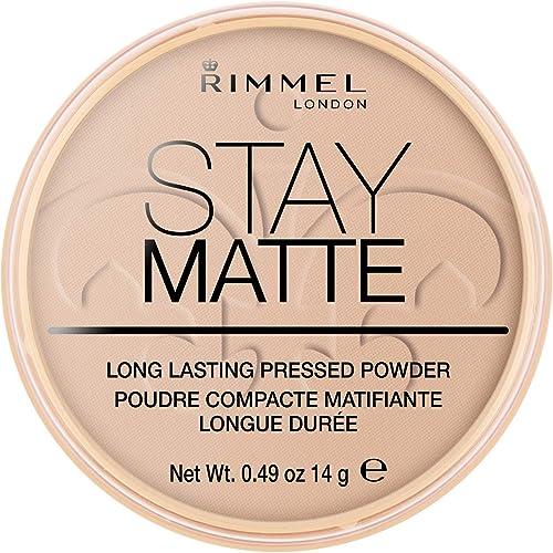 Rimmel London Stay Matte Pressed Powder, Silky Beige #005, 14 g