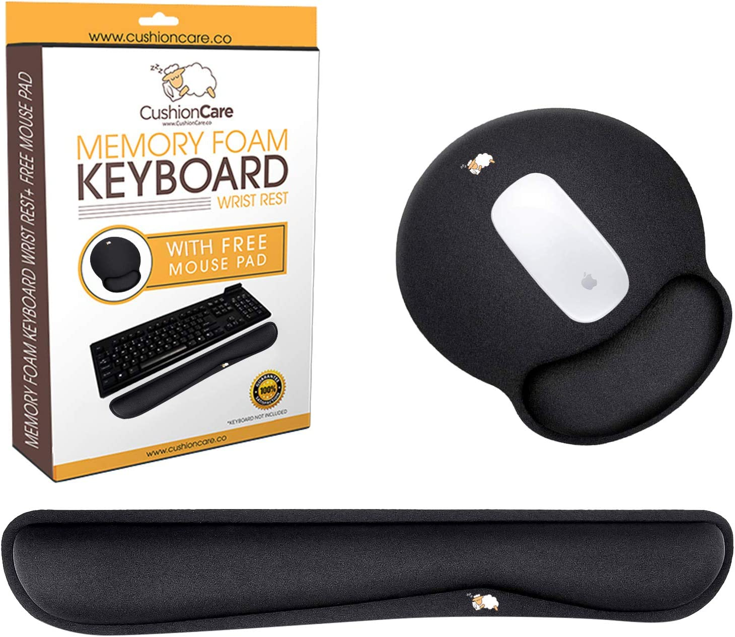 Cushioncare Wrist Rests Cheap SALE Start for Keyboard Max 60% OFF and Mouse Memory Set - Pad