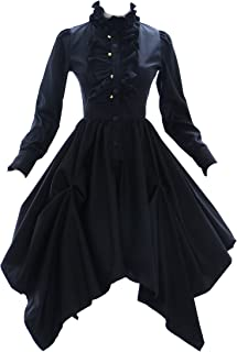 JL-575 schwarz Gothic Punk Visuel Kei Kera Lolita Kleid Kostüm dress Cosplay
