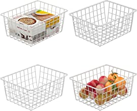 Wire Basket, Cambond 4 Pack Wire Baskets for Storage Durable Metal Basket Pantry Organizer Storage Bin Baskets for Kitchen...