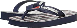 Havaianas Kids - Top USA Stripe Sandals (Toddler/Little Kid/Big Kid)