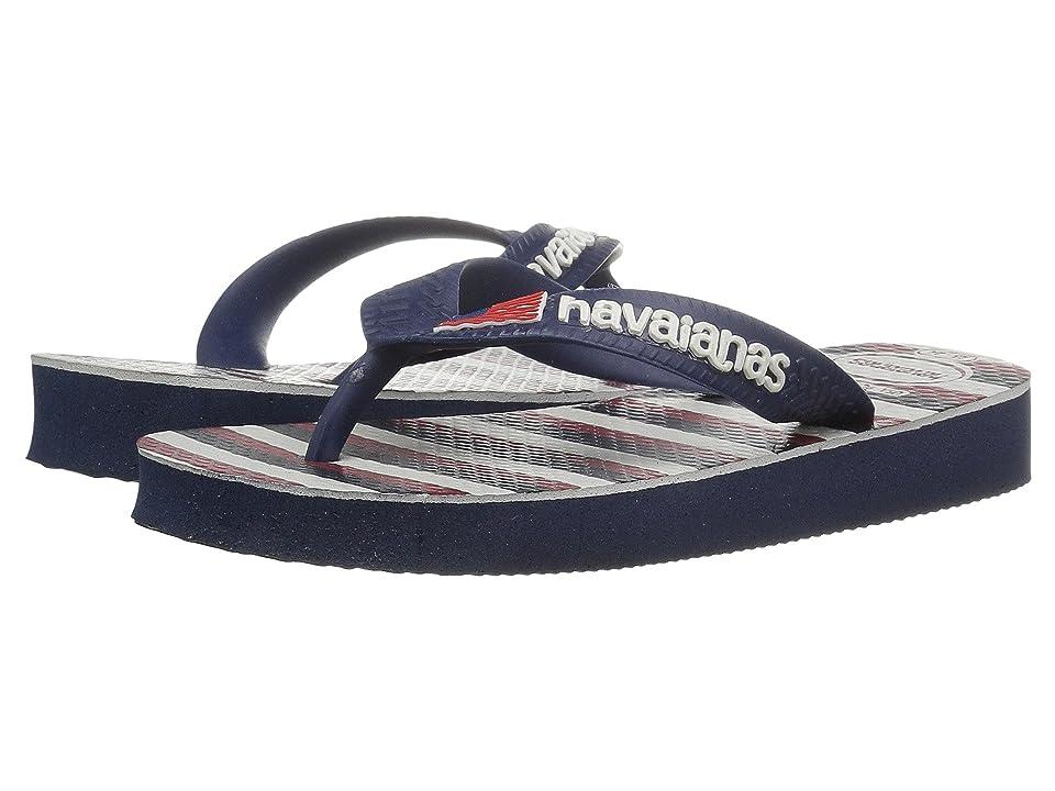 Havaianas Kids Top USA Stripe Sandals (Toddler/Little Kid/Big Kid) (Navy Blue) Kids Shoes