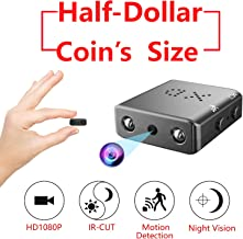 Smallest Hidden Spy Camera,ZTour 1080P Mini Secret HD Conceal Nanny Video Recorder with Night Vision and Motion Detection,Tiny,Compact Covert Security Camera for Home,Office,Car Dash Inside Spying