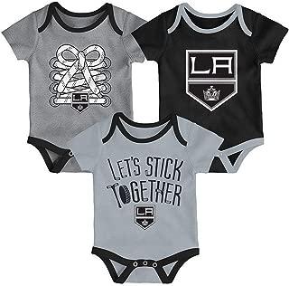 NHL Newborn Infants Five on Three 3 Piece Creeper Bodysuit Set