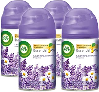 Air Wick Pure Freshmatic 4 Refills Automatic Spray, Lavender & Chamomile, 4ct, Air Freshener, Essential Oil, Odor Neutralization, Packaging May Vary