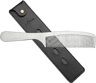 Faleto(JP) ヘアカットコーム プロ用 カットコーム ヘアカット ヘアコーム メンズ レディース ステンレス 美髪道具 美容師 櫛 くし 静電気防止 ヘアスタイリング (209mm)