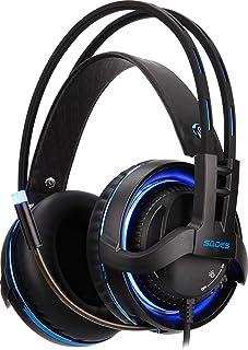سادس ديابلو SA-916 سماعات الألعاب الاحترافية مع Realteck الألعاب السمعية و RGB الخفيفة