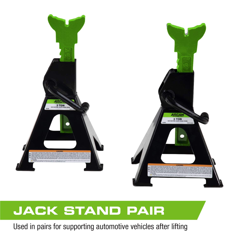 Vehicle Lifts, Hoists & Jacks Arcan 3-Ton Steel Jack Stands ALJS3 ...