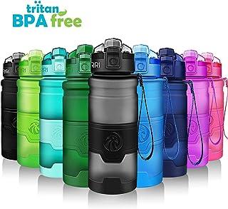 ZORRI Sports Water Bottle, 400/500/700ml/1L, BPA Free Leak Proof Tritan Lightweight Bottles for Outdoors,Camping,Cycling,F...