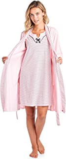 Women's Sleepwear 2 Piece Nightgown and Robe Set
