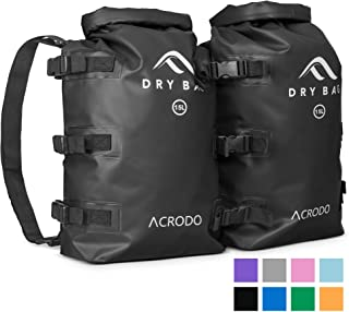 Acrodo Dry Bag Patented Waterproof Backpack - 15 Liter Floating Sack for Beach,  Kayaking,  Swimming,  Boating,  Camping,  Travel & Gifts