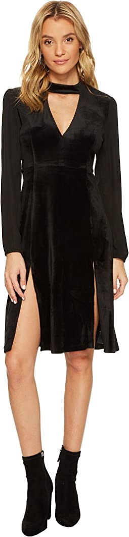 Jack by BB Dakota - Sherwood Deep-V Velvet Dress with Crepe de Chine Contrast