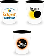 Total Solar Eclipse Commemorative Path Of Totality Shot Glass Collectors Gift Set Of 3 August 21 2017